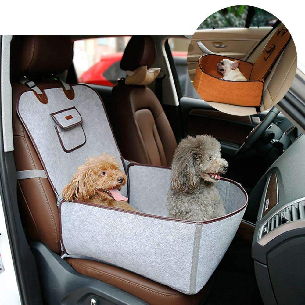 2 In 1 Pet Booster Seat Car Carrier Dog Carry Storage Bag For Cars Travel