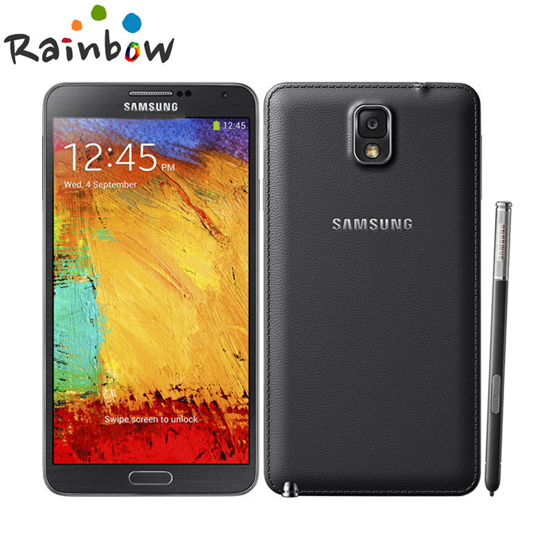 "2016 Hot Sale Smartphone Samsung Galaxy note 3 N900 32GB ROM 3G RAM Android 4.2 Quad Core 13MP Camera 5.7""Screen Mobile phone"