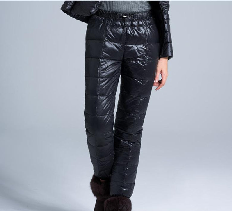 2016 New Feather Trousers Men And Women High Waist Large Size Winter