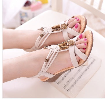 2016 top quality  hot Summer Bohemian shoes women sandals fashion soft slippers 35-40