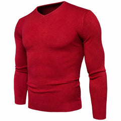 2017 Autumn winter men's V-neck sweater Fashion solid color long-sleeved hombre men's sweater jacket M-2XL