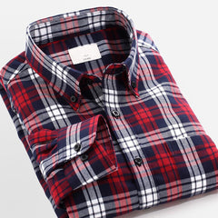 2017 Couple Lovers Plaid Shirt Men Women Long Sleeve Mens Dress Shirts Slim Fit Casual Shirts Men's Shirts High Quality For Male 1