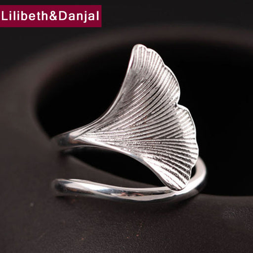 2017 Fashion Women Ring 100% Real 925 sterling silver DIY Leaf Wedding Adjustable Engagement ring Gift Women fine jewelry MR15