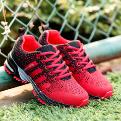 2017 Hot Sales Fashion Light Breathable cheap Lace-up Men Shoes Human Race Casual Shoes For Male Black Red Plus Size 35-46 1