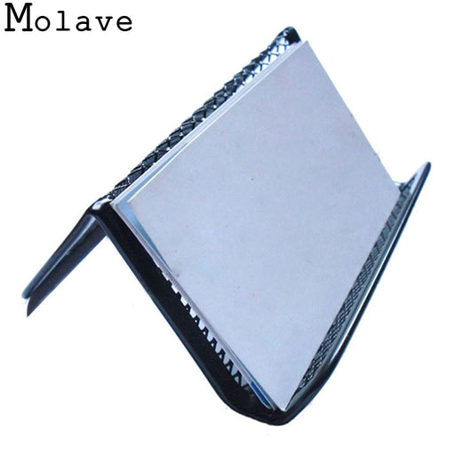 2017 Mens/Womens New Simple Fashion Black Steel Mesh Business ID Credit Cards Holder Top Quality Office Supplies Apr20