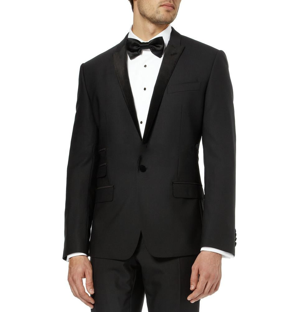 2017 Most Popular Classic Men Suits Formal Prom Suits Vintage Groomsmen Wedding Tuxedos Black Mens Daily Wear (Jacket+Pants+Tie) 1