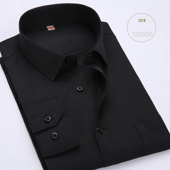 2017 New Arrival Mens Top Quality Fashion Clothes Men Solid Color Casual Shirt Long Sleeve Formal Male Shirts Mens Dress Shirts