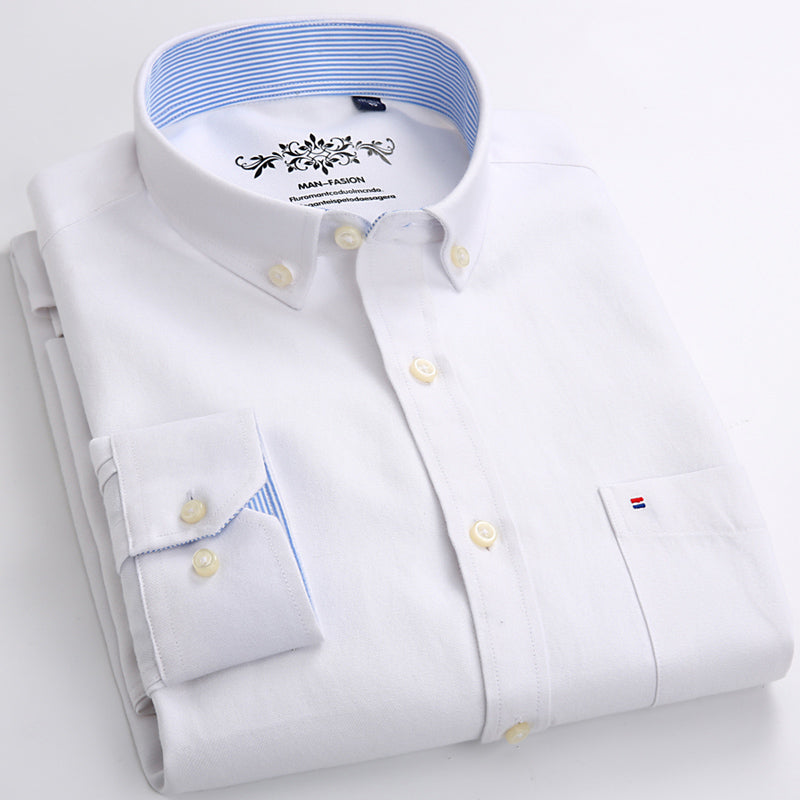 2017 New Design Super High Quality Cotton and Polyster Men Shirts Business Casual Shirts Luxury Brand Oxford Men Dress Shirts