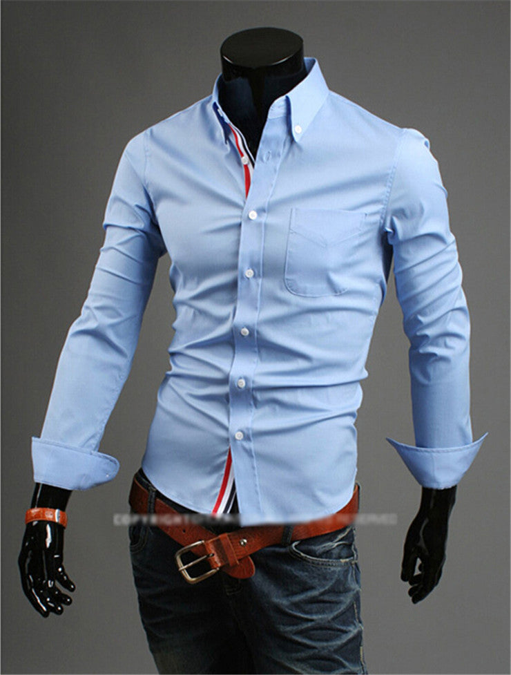 2017 New Designer Male Shirts Business Casual Slim Fit Shirt Long-Sleeved Men's Dress Shirts Brand camiseta masculina Size 3XL