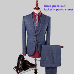 2017 New Fashion Mens Wedding Suits Classic Three Piece Men Suit Terno Masculino  Slim Fit Blazer Male Formal Business Suits Set