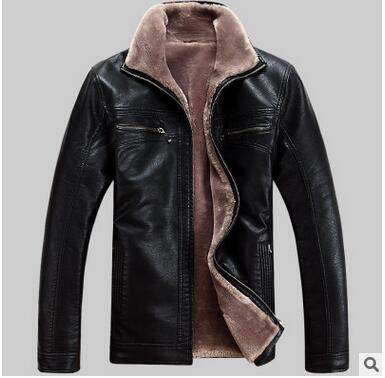 2017 New Men Genuine Leather Coat sheepskin men's short Jacket leather winter jackets mens EMS Free Shipping Plus Size M-5XL