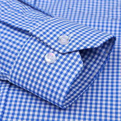 2017 New Men Plaid Shirt High Quality 100% Cotton Button-Down Collar Long Sleeve Men Dress Shirts Social Business Casual Shirt