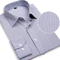 2017 New Men Striped Dress Shirts Long Sleeve Brand Clothing Turn-down Collar Clothes Slim Fit Social Plus Size 3XL 4XL X385