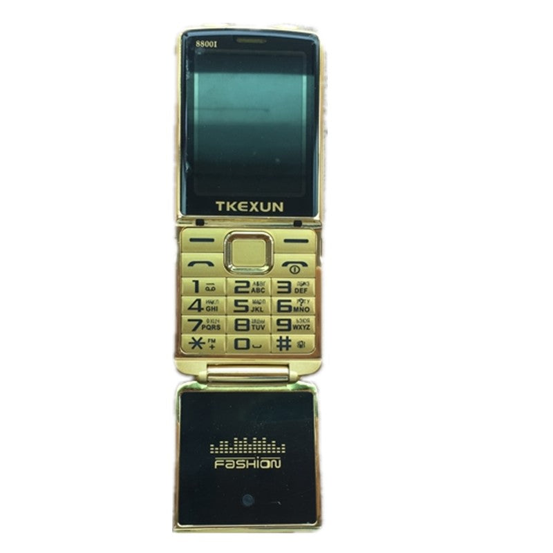 "2017 New Original TKEXUN 8800 Flip Phone 2.8"" Dual Sim Camera MP3 MP4 Dual Torch Luxury Cell Phone"