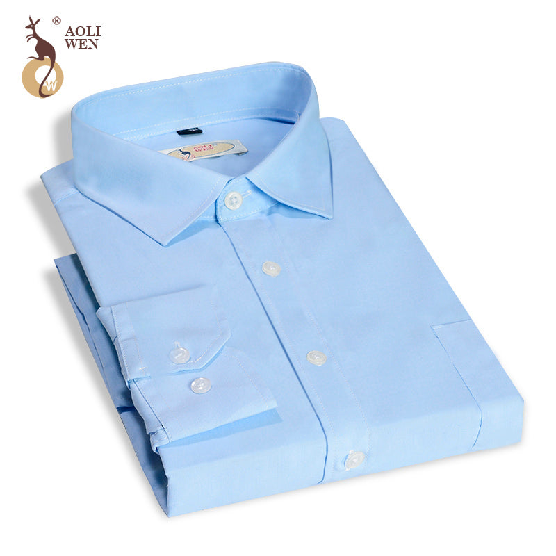 2017 New Spring And Autumn Fashion Mens Work Shirts Brand Long Sleeve Striped Men Dress Shirts White Male Shirts Size M-4xl