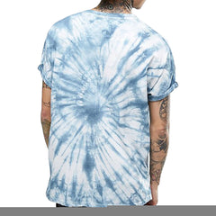 2017 New fashion Summer O-neck Tie dye T-shirt Man GREY color t shirt mens comfortable M-XXL size hip hop Tops