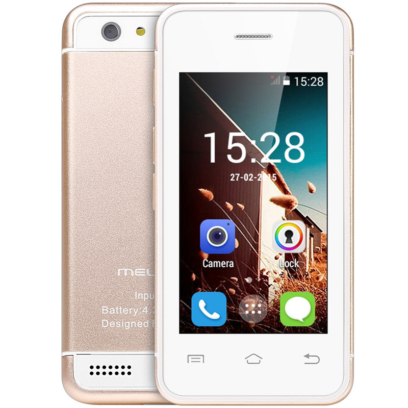 2017 Smallest android phone Melrose S9 3G WIFI Ultra slim mini I6 mobile phone MTK6572 Dual core cell phones for children kids