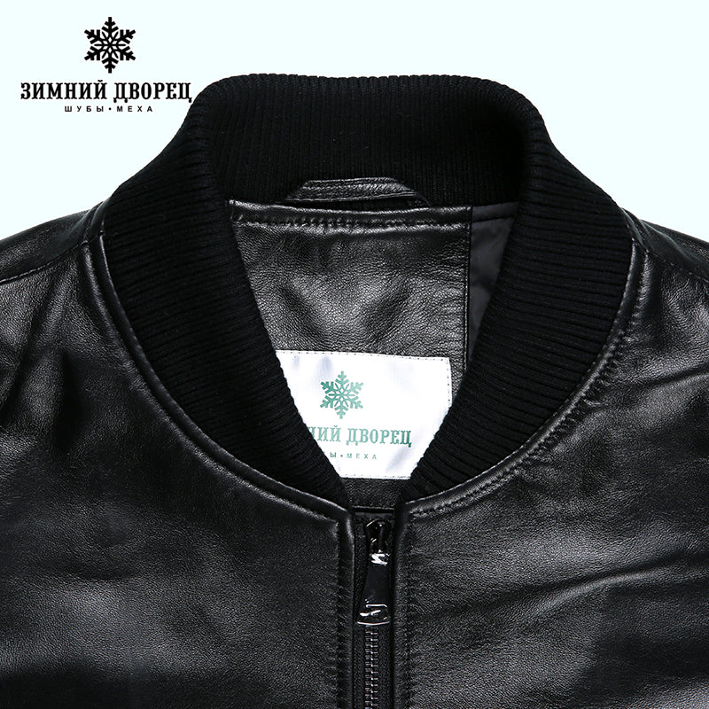2017 Spring new Fashion leather jacket Short Sheepskin Men leather jacket Classic leather jacket men motorcy Thin leather jacket