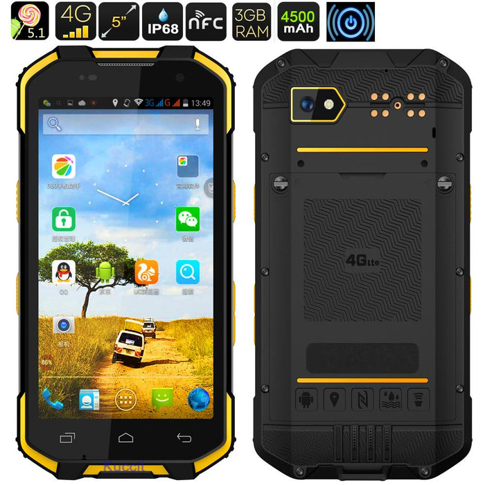 2017 Upgrade S28 Waterproof Phone Android 6 0 Rugged Smartphone China Phone  4G LTE Octa Core Dual Sim GPS wireless charger