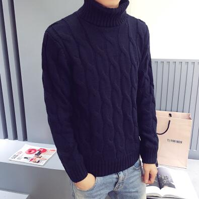 2017 autumn winter new turtleneck sweater male sweater men's slim underwear shirt fashion and leisure high quality sweaters