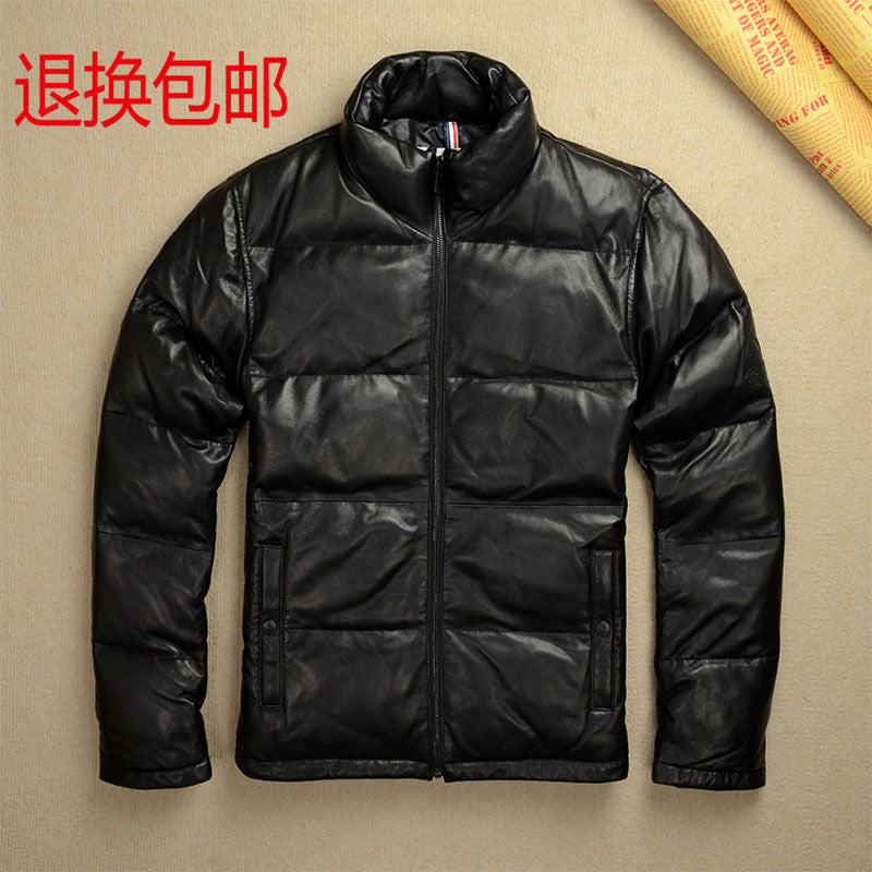 2017 men's wear new leather jacket Men's brief paragraph Sheepskin coat jacket winter special favors cultivate one's morality