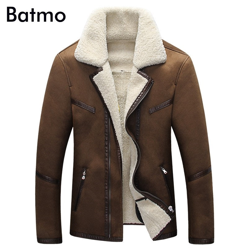 2017 new arrival winter high quality warm Suede fur coat men,casual jacket men,thick Liner coat men Asian size L-XXXXL