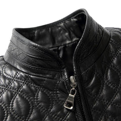 2017 new  men's leather jacket collar thickened sheepskin leather  cotton jacket 8805P480