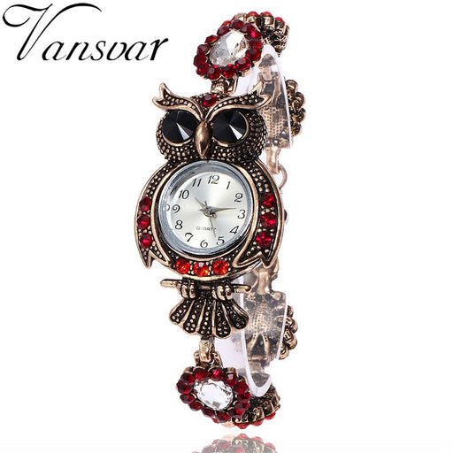 2018 Hot Sale Relogio Feminino Vintage Owl Womens Luxury Watch Quartz Bracelet Brand Watches Beautiful Gift Dress Wrist Watch