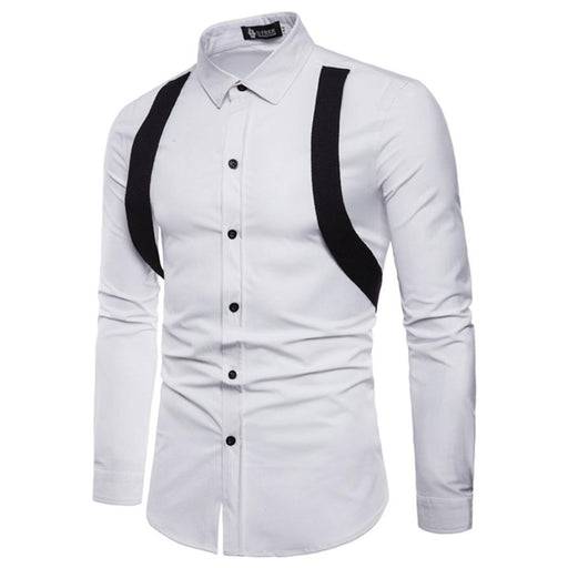 2018 NEW Trendy Summer Men Dress Shirt Casual Mens Long Sleeve Oxford Formal Casual Suits Slim Fit Tee Dress Shirts Blouse Top