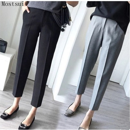 2018 New 3xl Plus Size Harem Pants Women Spring Summer Ol Pants Casual Harem Pants Elastic High Waist Slim Work Pants Trousers
