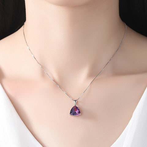 2018 New Fashion Luxury Jewelry Necklace Pendants Colorful Zircon Embellishment Charm Women Party Gift  Body Jewelry