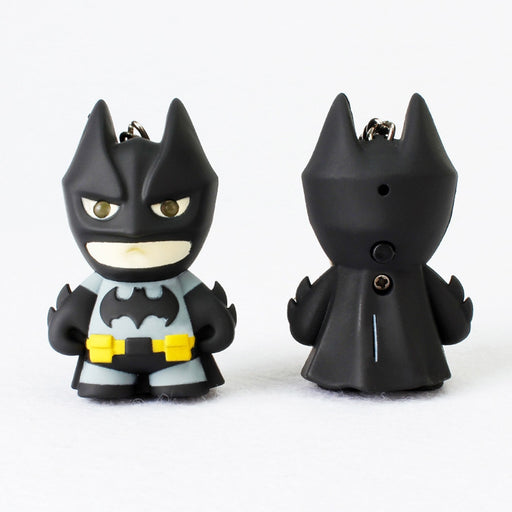 2018 Superhero Batman Led Keychain Flashlight  Pendant Key Chain Cute Action Figure Keyrings Cool Gift
