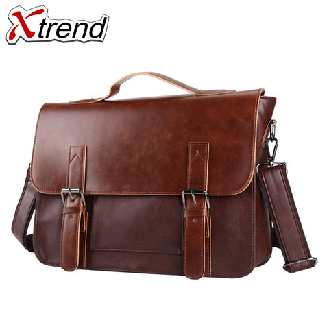 2018 Xtrend Brand Bolso Hombre Leather Bag Men Crossbody Bags Messenger Men's Travel Shoulder Bags Solid Briefcases Handbags