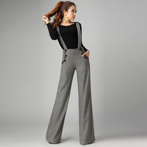 2018 autumn and winter Fashion Casual plus size woolen women's pants wide leg pants trousers female ladies women girls clothing
