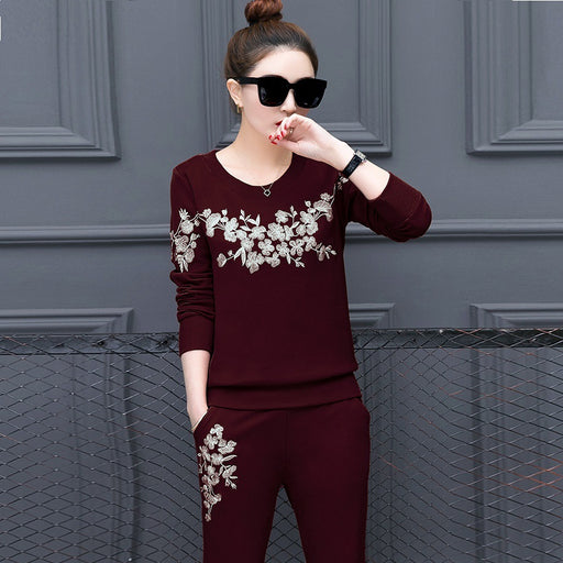 2018 new fashion Women's Autumn Tracksuit Women Hoodies 2-Piece Set (t-shirts+Long Pants) Leisure Suits M-3XL sportwear suits