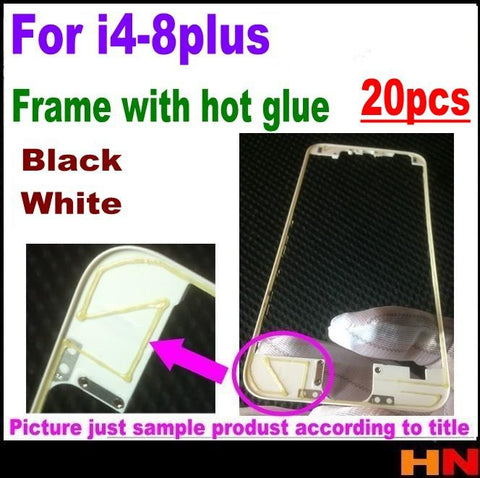 20pcs Front LCD Frame With Hot Melt Glue for iPhone 4/4s/5/5s/6/6p/6s/6sp/7/7p 8 8 plus LCD Bracket Housing Middle Bezel