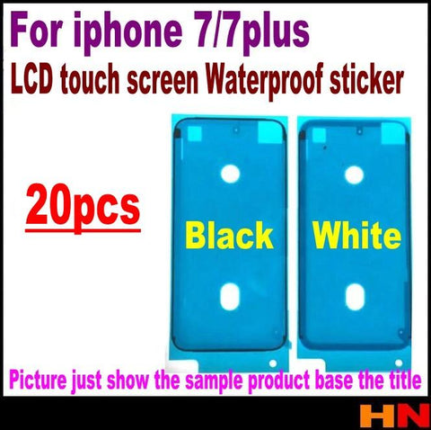 20pcs Waterproof 3M Pre-Cut Adhesive Glue Tape Sticker For iPhone 7 7g plus 7P Front Housing LCD Touch Screen Display Frame
