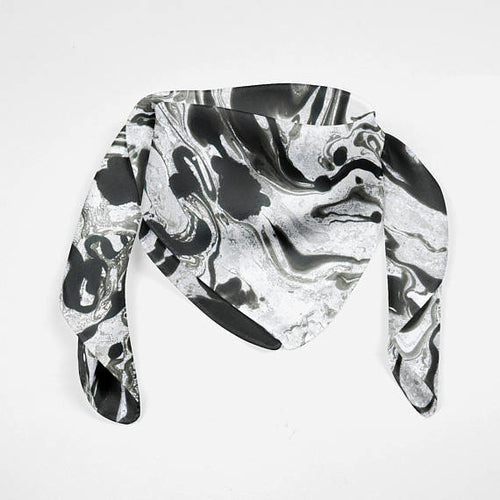 Marble Abstract Silk Scarf Silk Square Scarf