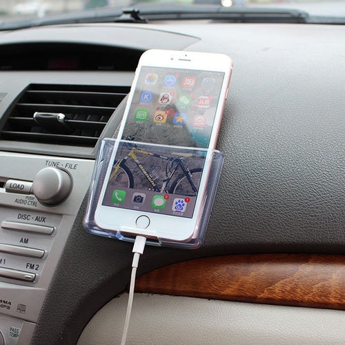 Car Storage Box Phone Holder