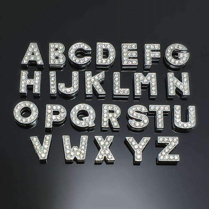 260 Pieces Lot Pet Product 10 Mm Slide Rhinestone Letters Charms Fit