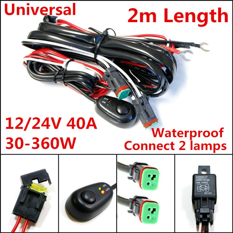 2m14vdc 40a Rated Wiring Loom Car Switch Relay Fuse Harness Kit