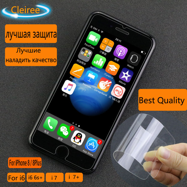 (2PCS) Tempered Glass For iPhone 8 7 6 6S Plus Explosion Proof Screen Protectors Film Protective Glass