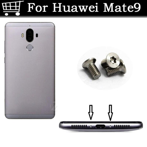 2PCS silver / Gold / Black For Huawei Mate 9 Buttom Dock Screws Housing Screw nail tack For Huawei Mate9 Mate 9 Mobile Phones