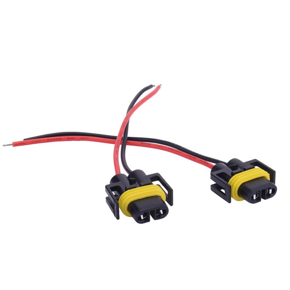 2pcs H8 H11 Wiring Harness Socket Female Adapter Car Auto Wire Connector Cable Plug For Hid