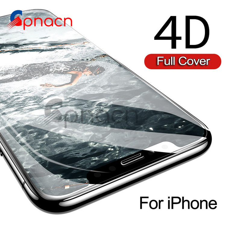 (2nd Gen 3D) 4D Tempered Glass For iPhone 8 7 Plus Full Cover Edge Screen Protector For iPhone 6 6s 7 Plus Protection Glass case