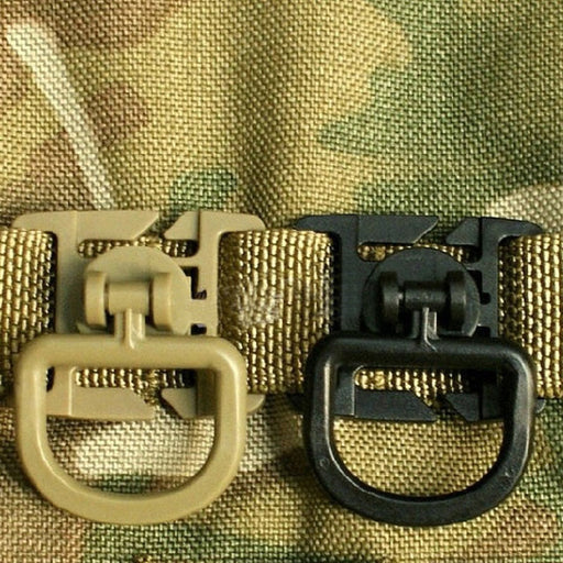 2pc Molle Clip Carabiner Sternum Strap Swivel D-Ring Rotation Plastic Buckle Hooks Webbing Locking Bag accessory