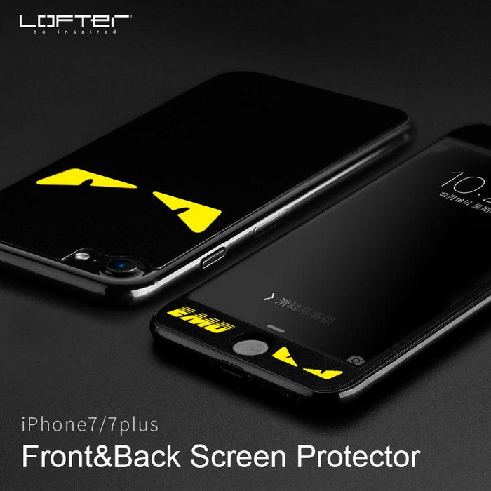 2pcs Front And Back Devil Eyes Full Screen Protector For Iphone 7