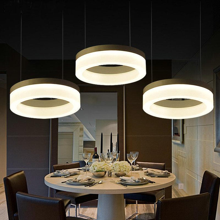 3 Light Pendant Lighting Modern Hanging Light Fixture Kitchen Island  Hanging Lamp 3 Rings Dining Room Lighting