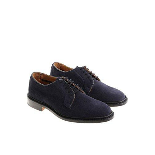 --Tricker's Robert navy Blue Leather Lace-Up Shoes--