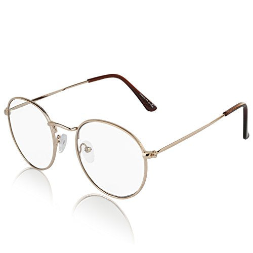 SunnyPro Non Prescription Glasses For Women and Men Circle Frame ...